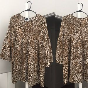 Cheetah Tunic Dress with Bell Sleeve